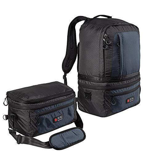 Cabin Max Universal Handgepäck Kabinenrucksack|2 in 1 Reiserucksack|Von 55x40x20 auf 40x20x25 verkleinerbar mithilfe von nur 2 Clips und 1 Reißverschluss|Perfekt für Flüge mit Ryanair (Schwarz)