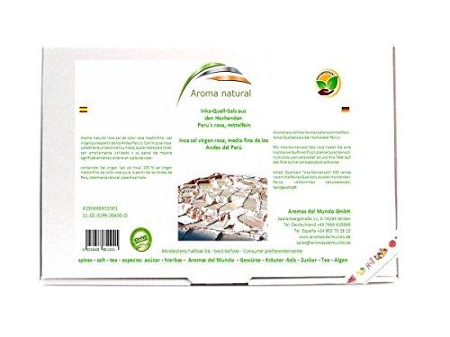 Aroma natural Inka-Sonnensalz, aus Peru, rosa mittelfein 450 g, 1er Pack (1 x 450 g)