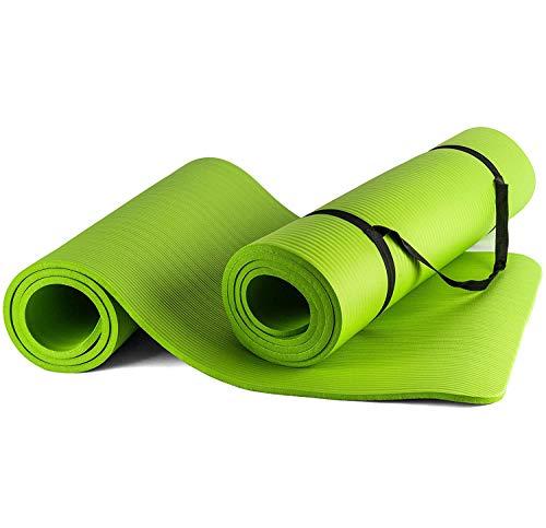 BigDean Yogamatte Gymnastikmatte Sportmatte für Yoga Pilates Fitness & Gymnastik mit Tragegurt rutschfest + gelenkschonend Maße 180x80x1cm Stärke 1 cm