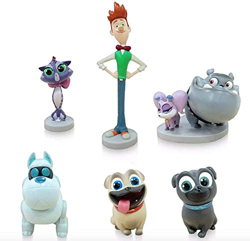 Puppy Dog Pals Figure Play Set - PVC - Includes Bingo, Rolly, Hissy, Bob, A.R.F., and Cupcake and Rufus