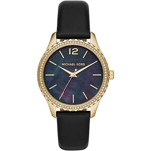 Michael Kors Reloj Analógico para Mujer de Cuarzo con Correa en Piel Genuina MK2911