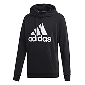 adidas mens Must Have Badge of Sport French Terry Hooded Sweatshirt