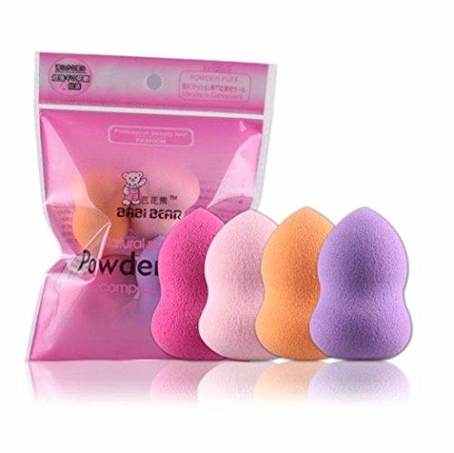 Arpoador 4 pcs Beauté Maquillage Flawless blender Foundation Puff Multi Forme éponges de calebasse Forme