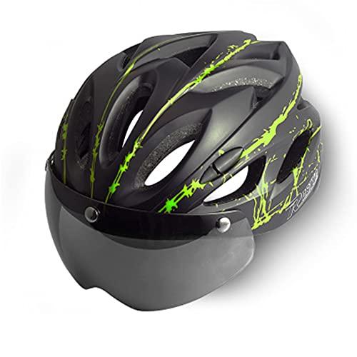 Motocicleta Bicicleta In-Mold Gafas magnéticas Gafas Casco Carretera Bicicleta de montaña Seguridad al Aire Libre Montar Ciclismo Ventilado Transpirable Deportes Equipo Profesional