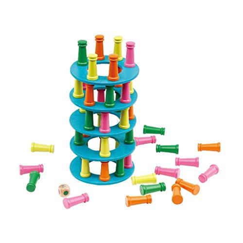 Fine Pisa Tower Parent-Child Interactive Balance Exercise,Stacking Blocks Balancing Games,Preschool...