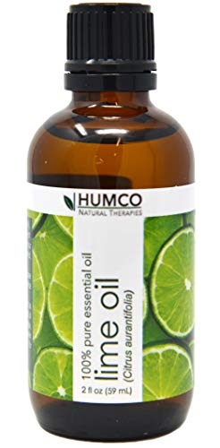 Humco Natural Therapies LIME Oil with Dropper, 2 Oz,-100% Pure Essential Oil - Improve Appearance of Skin, Moisturize Hair and Scalp, Remove Stains