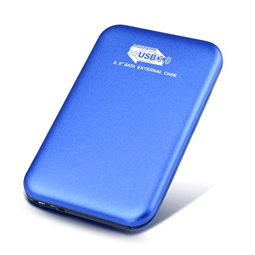 "Hattahh Hard Disk Esterno 2TB 2,5"" USB3.0 SATA HDD Storage per PC, Mac, Laptop, Chromebook, Xbox 360, Xbox (2 tb, blu)"