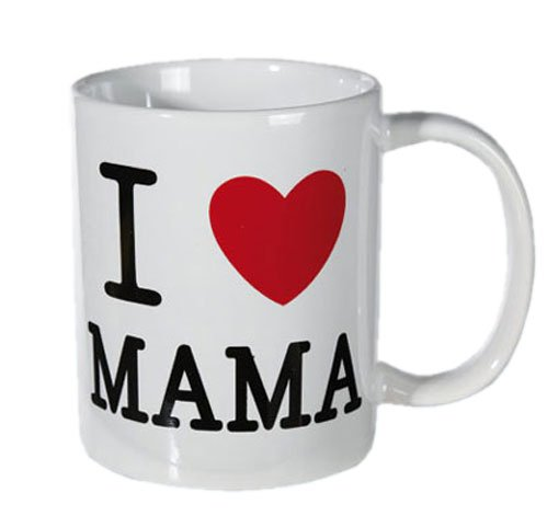 I love Papa I love Mama Becher ca. 9x8 cm Kaffeebecher Kaffee Tee Tasse: Farbe: I love Mama