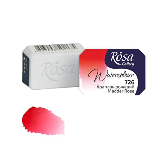 Rosa Gallery Extra fine Watercolor, Single full pan 2.5ml each (Madder Rose)