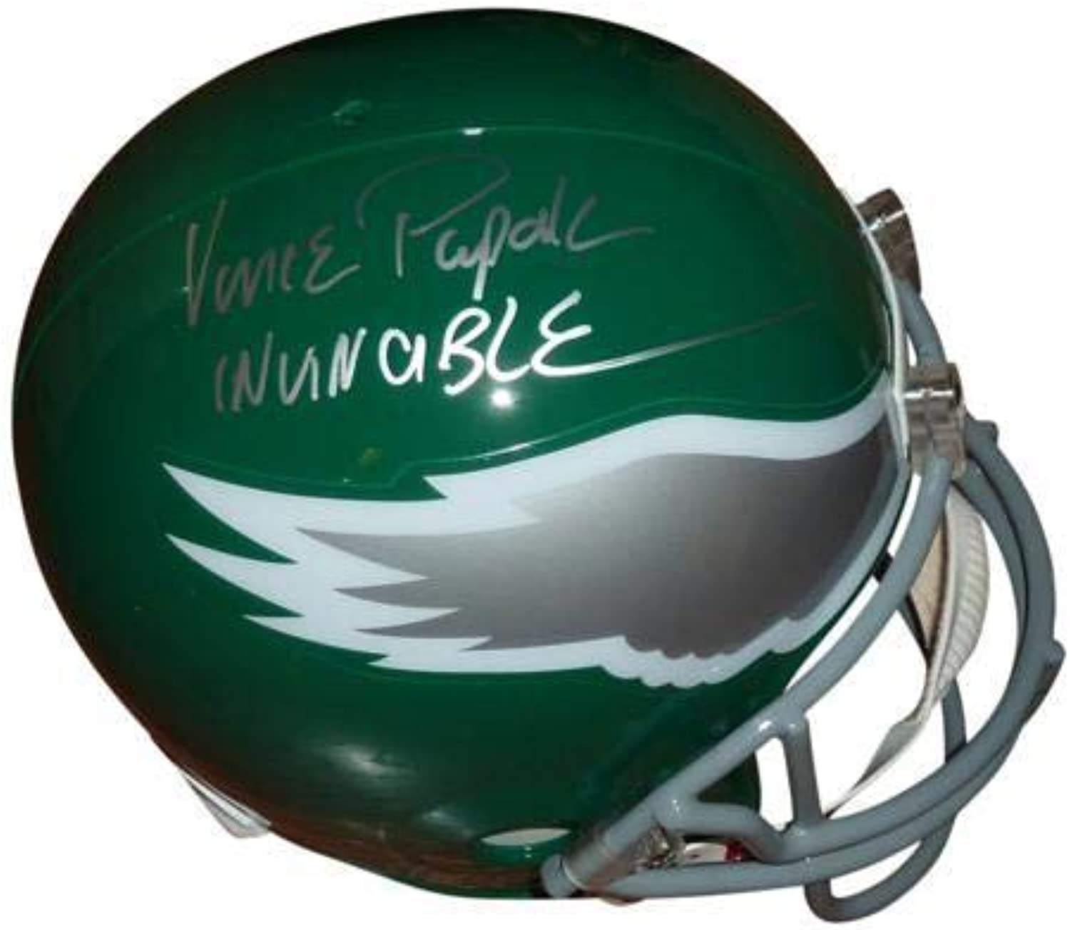 Vince Papale Signed Helmet  Throwback Deluxe Full Size Replica w Invincible  Autographed NFL Helmets