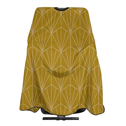 Tablier de salon professionnel Art Deco en or imperméable pour homme et femme avec cape antistatique pour coupe de cheveux et coiffure 139,7 x 167,6 cm