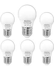 Abishion 5,5 W E27 LED-lamp, natuurlijk wit 4000 K, vervangt 40 W gloeilamp, niet dimbaar 470 LM RA80, G45 LED-gloeilampen, verpakking van 6 stuks.