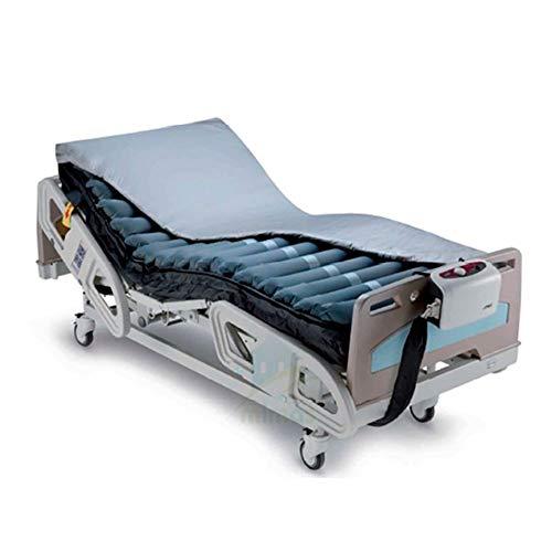 Apex Domus Auto Colchón Antiescaras con Celdas de Aire, Producto Premium para el Cuidado de la Salud en el Propio Domicilio Deluxe, Gris, 200 x 90 x 20.32 cm
