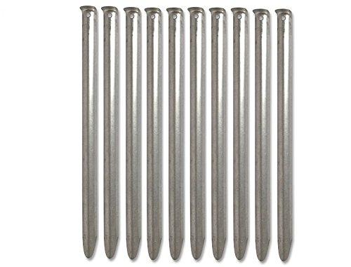 G8DS® 10 x Zelthering Stahl 30 cm