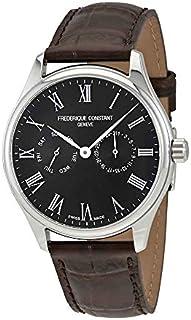 Frederique Constant Black Dial Leather Strap Men's Watch FC-259BR5B6-DBR
