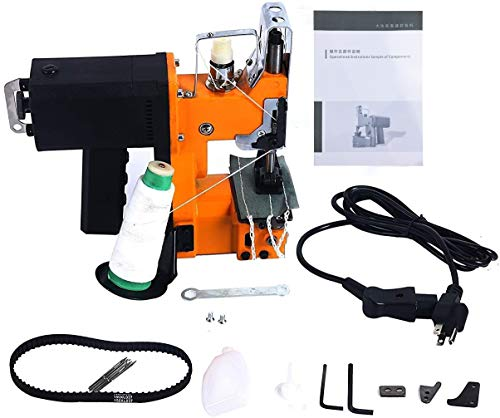 Yaetek 110V Industrial Portable Electric Bag Stitching Closer Seal Sewing Machine with Accessories
