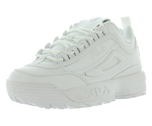 Fila Youth Disruptor II Synthetic Triple White Entrenadores 38.5 EU