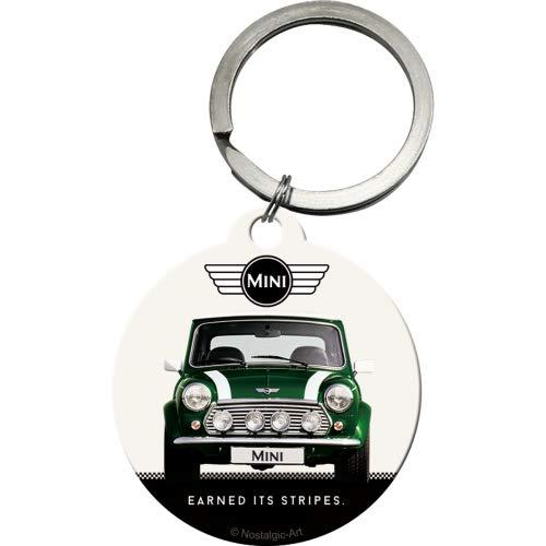 Nostalgic-Art Mini-Cooper Green Schlüsselanhänger Rund 4 cm, Mehrfarbig