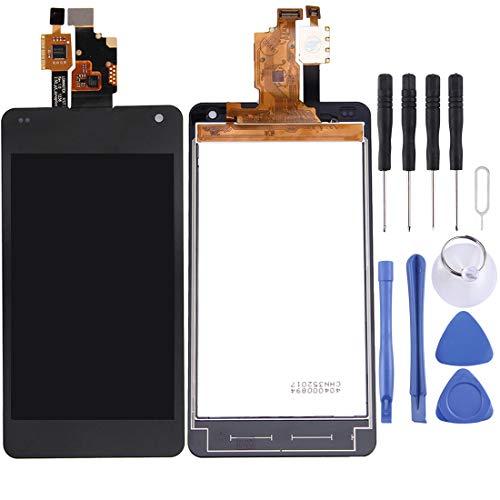 YCZLZ Reemplazo Cubierta Posterior Batería, Reparación de la Pantalla LCD y digitalizador Partes de la asamblea Completa for LG Optimus G / E971 / E973 / E975 (Negro)