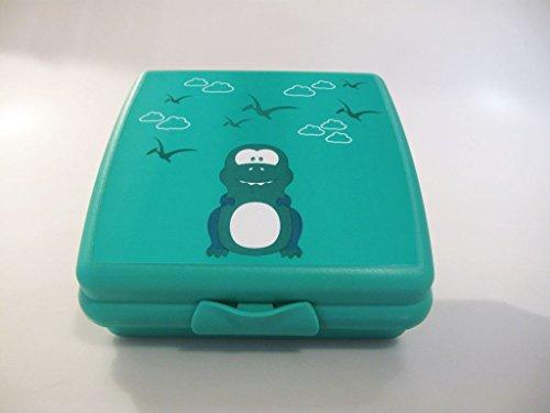 TUPPERWARE To Go Sandwich-Box türkis Drache Brotbox Schule Pausenbrot A126 Dino