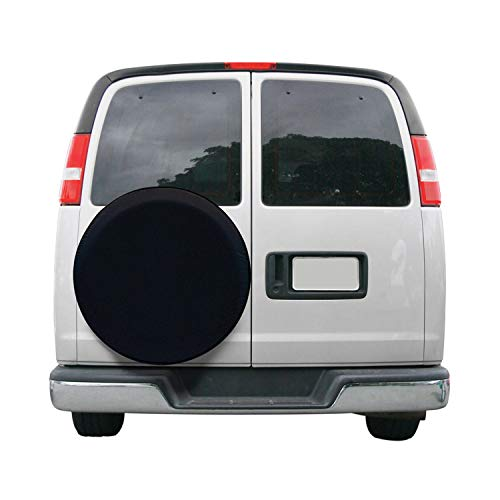 Classic Accessories Over Drive RV Universal Fit Spare Tire Cover, Wheels 26' - 28' Diameter, Black