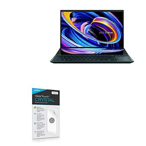 BoxWave Protetor de tela para ASUS ZenBook Pro Duo 15 (UX582) [ClearTouch Crystal (pacote com 2)] Película de filme HD – Protege contra arranhões para ASUS ZenBook Pro Duo 15 (UX582)