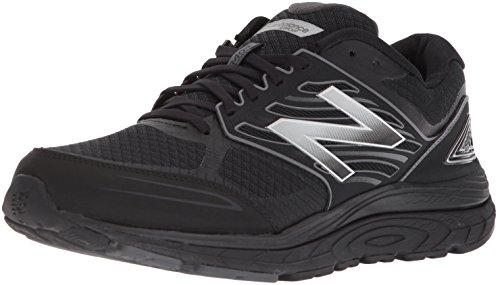 New Balance Men's 1340 V3 Running Shoe, Black/Grey, 10.5 4E US
