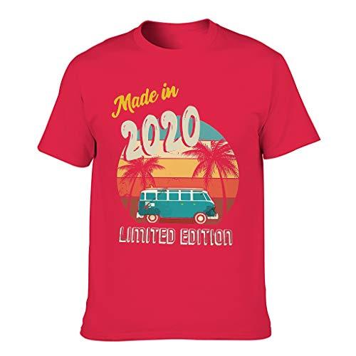 Premium Herren Grafik T-Shirt Vintage Geboren 2020 Limited Edition Druck Cool Bluse...