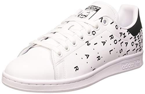 adidas Stan Smith W, Scarpe da Ginnastica Donna, Ftwr White/Ftwr White/Core Black, 41 1/3 EU