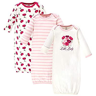 Touched by Nature Baby Organic Cotton Gowns, Petals, 0-6 Months