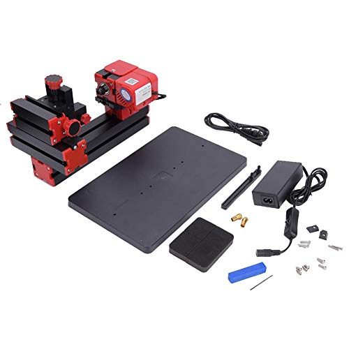 Best Price Mini Woodworking Lathe, Multi-Functional 6 in 1 Motorized Woodworking Lathe Tool US Plug ...