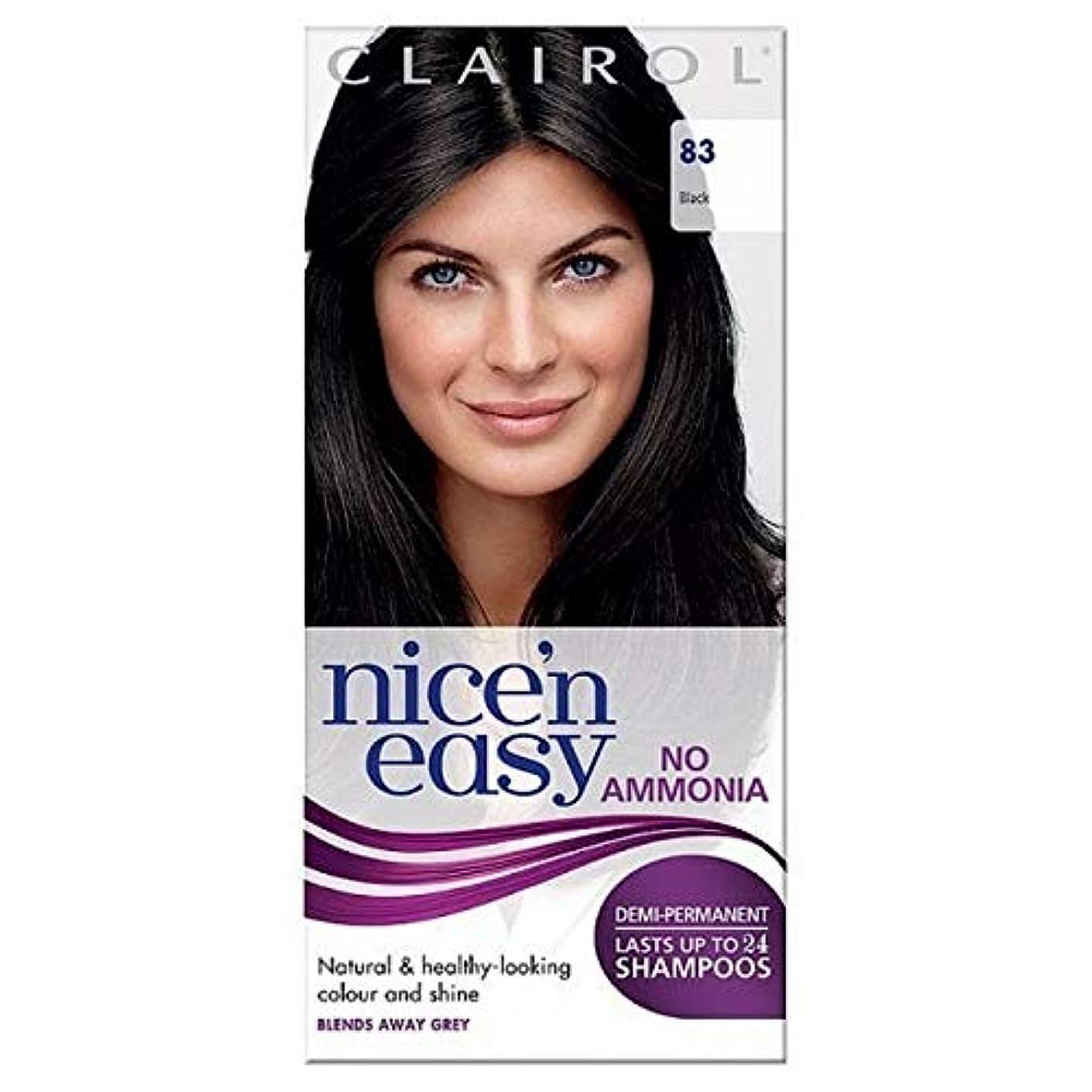 家事をする部分的迷信[Nice'n Easy] Nice'N簡単に何のアンモニアの染毛剤ません83黒 - Nice'n Easy No Ammonia Hair Dye Black 83 [並行輸入品]