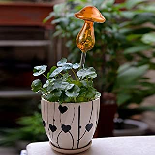 New Gardening Tools Mushroom Shape House Plants Flowers Water Feeder Automatic Self Watering Clear Glass Devices(Transpare...
