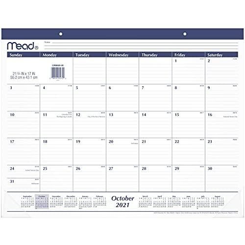 2022 Desk Calendar, Mead Desk Pad Calendar, 21-3/4' x 17', Standard,...