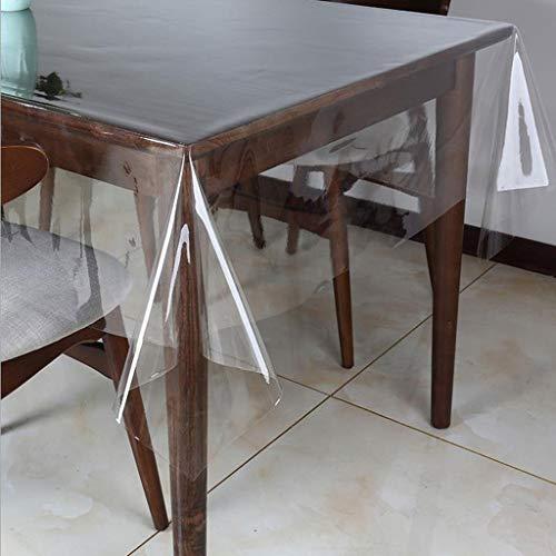 Y-LIFE Tafelkleden Clear Tafelhoes Beschermer PVC Bureau Pad Zacht Glas Eettafelkleed Kunststof Mat voor Thuis/Keuken/Kantoor