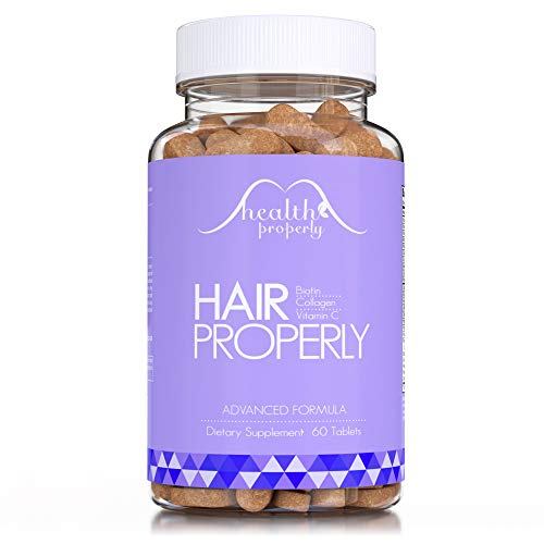 HEALTH PROPERLY Hair Vitamins Now with Collagen   New Formula Scientifically Made for Faster Hair...