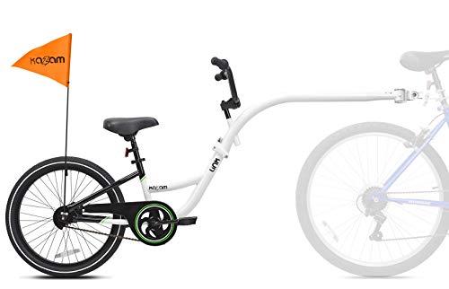 WeeRide Kazam Link Halb-Tandem-Fahrrad für Kinder, Weiß, S