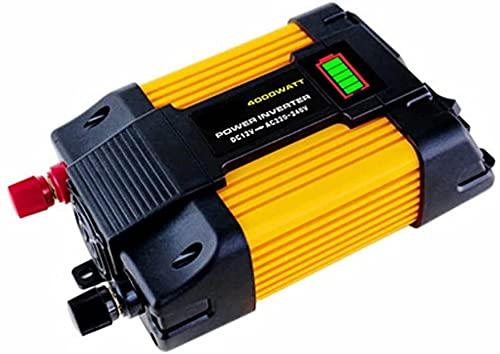 wsbdking Ola de corrección 1 2V220V 110V 300W 500W inversor de conversión de automóviles DIRIGIÓ Pantalla roja Dual USB (Color : 300w, Size : 12V to 220V)