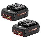 Vinso - 2 batterie di ricambio per Bosch BAT609, Bosch 18 V 5,0 Ah: 2607336092, 2607336236, 2607336170, 2607336235, Bosch GBA BAT609, BAT609G, BAT619, BAT621, BAT620, con indicatori a LED