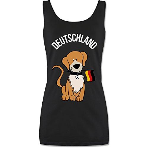 Shirtracer Fußball-Europameisterschaft 2020 - Fußball Deutschland Hund - L - Schwarz - P72 - Tanktop für Damen und Frauen Tops