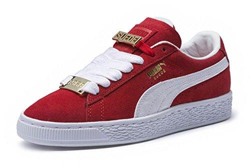 PUMA - Pre-School Suede Classic Bboy Fabulous Shoes, Size: 13 M US Little Kid, Color: Flame Scarlet/Puma White