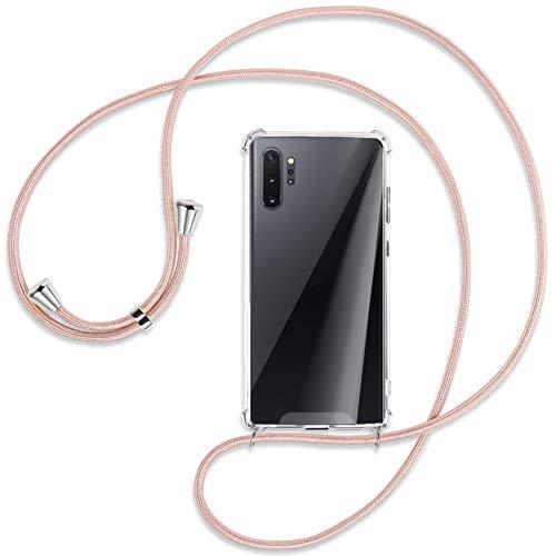 mtb more energy® Handykette kompatibel mit Samsung Galaxy Note 10 Plus, Note 10+ (SM-N975, 6.8'') - roségold - Befestigung unten - Smartphone Hülle zum Umhängen