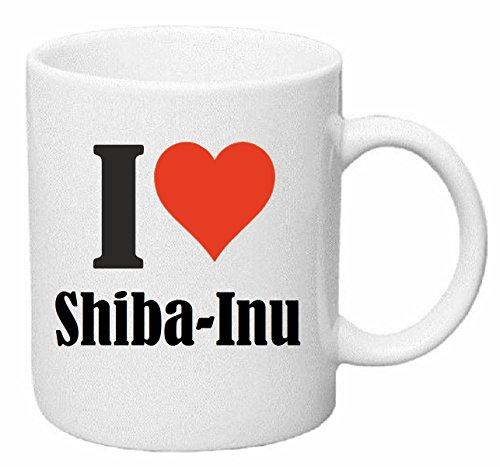 Reifen-Markt Kaffeetasse I Love Shiba-Inu Keramik Höhe 9,5cm ? 8cm in Weiß