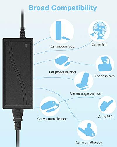 Aclorol 12V 5A Car Power Supply Adapter Car Cigarette Lighter Socket AC 100V-220V to DC 12Volts 5amp 60W Converter Transformer for Car Devices car Cooler, car Vacuum Cleaner, car Refrigerator