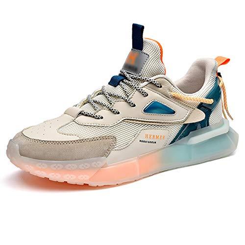 WYZDQ Entrenadores para Hombre Zapatillas para Correr Gimnasio Deporte Deporte Zapatillas de Deporte Zapatillas para Caminar Transpirables,C,US9.5 / UK8.5