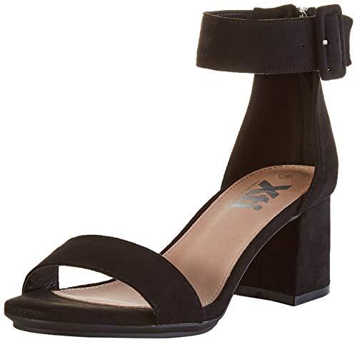 XTI 35196.0, Zapatos con Tira de Tobillo Mujer, Negro (Negro Negro), 41 EU