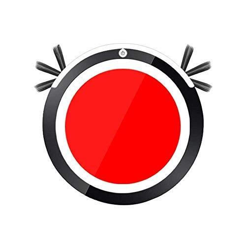 CHUTD Automatischer intelligenter Staubsaugerroboter Wisch-Kehrsauger Akku-Staubsaugmaschine Anti-Drop für die Haushaltsreinigung (Farbe: Rot)