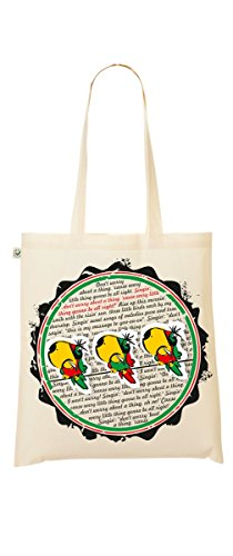 Shopper Bag – Bob Marley – Commercio Equo E Solidale – My-tagshirt – sacchetto di iuta