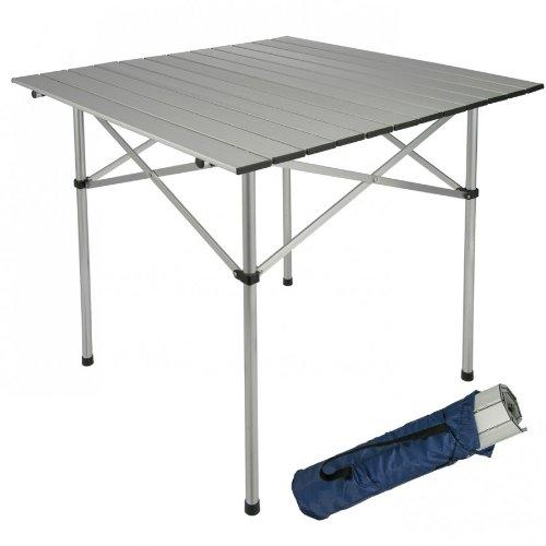 Klapptisch Alu 70x70x70cm Campingtisch Rolltisch Gartentisch Camping