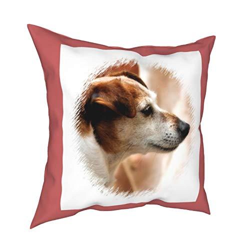 Reebos Jack Russell Terrier - Fundas de cojín cuadradas para sofá, sala de estar, cama de 45,7 x 45,7 cm